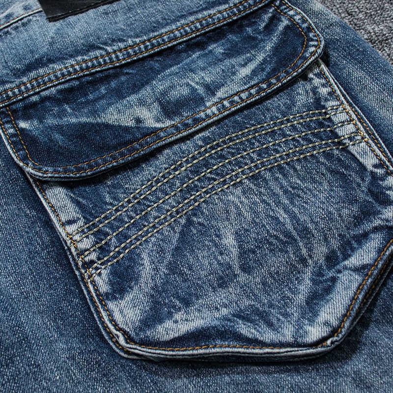Holyrising Männer Jeans Hosen Casual Baumwolle Denim Hose Multi Tasche Fracht Jeans Männer Neue Mode Denim Hosen Große größe 18665 -5