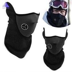 Pescoço quente meia máscara facial inverno esporte máscara à prova de vento bicicleta ciclismo máscara esqui babadores snowboard máscaras ao ar livre poeira
