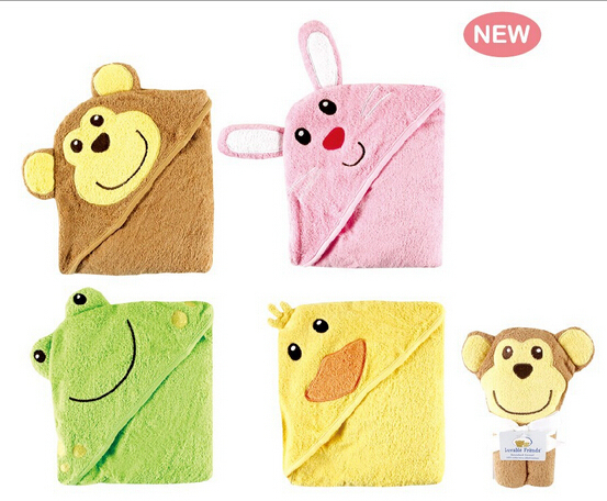 Free Shipping Luvable Friends Banheira Inflavel Baby Bath Towel Hood Baby Bathrobe