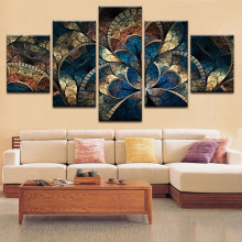 Home Decoration HD Framework Tableau Modern Abstract Flower Painting Canvas Modular Print Wall Art Pictures For Living Room(China)