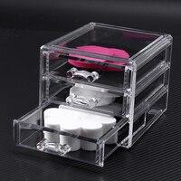 Acrylic Cosmetic Makeup Organizer Lipstick Holder Jewelry Storage Box Case Home Storage Bins