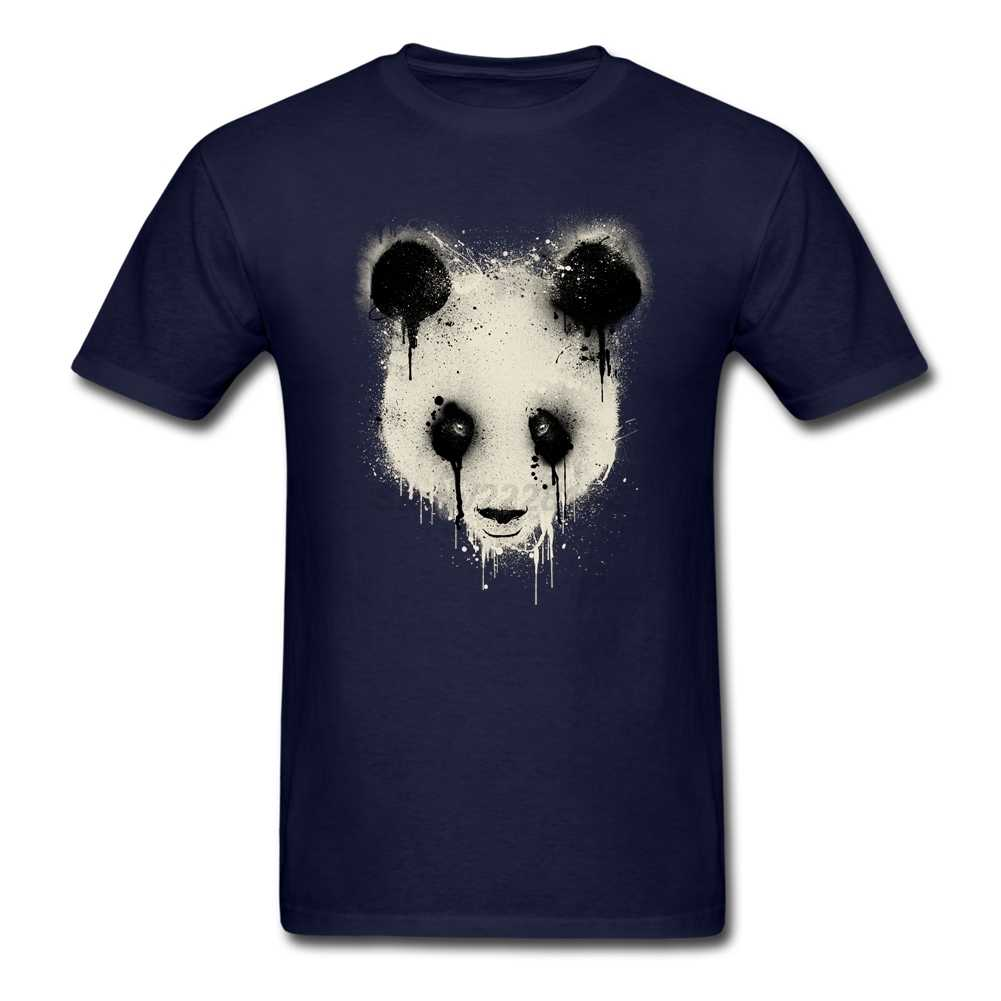 Для мужчин панда капельного футболка рок-н-ролл дизайнерский хлопковый Костюмы с голова панды 90 s модная одежда футболки для мужчин