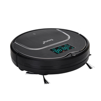 (Free to Europe) 2017 Newest Model M883 E World Robot Vacuum Cleaner with Mop, Schedule,SelfCharge with LCD