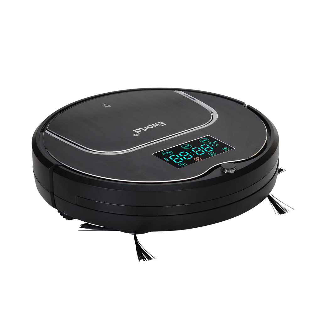 (Free to Europe) 2017 Newest Model M883 E-World Robot Vacuum Cleaner with Mop, Schedule,SelfCharge LCD