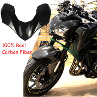 Z 900 Real Carbon Fiber Upper Front Headlight Fairing for 2017 2018 Kawasaki Z900 Motorcycle Accessories UK Stock