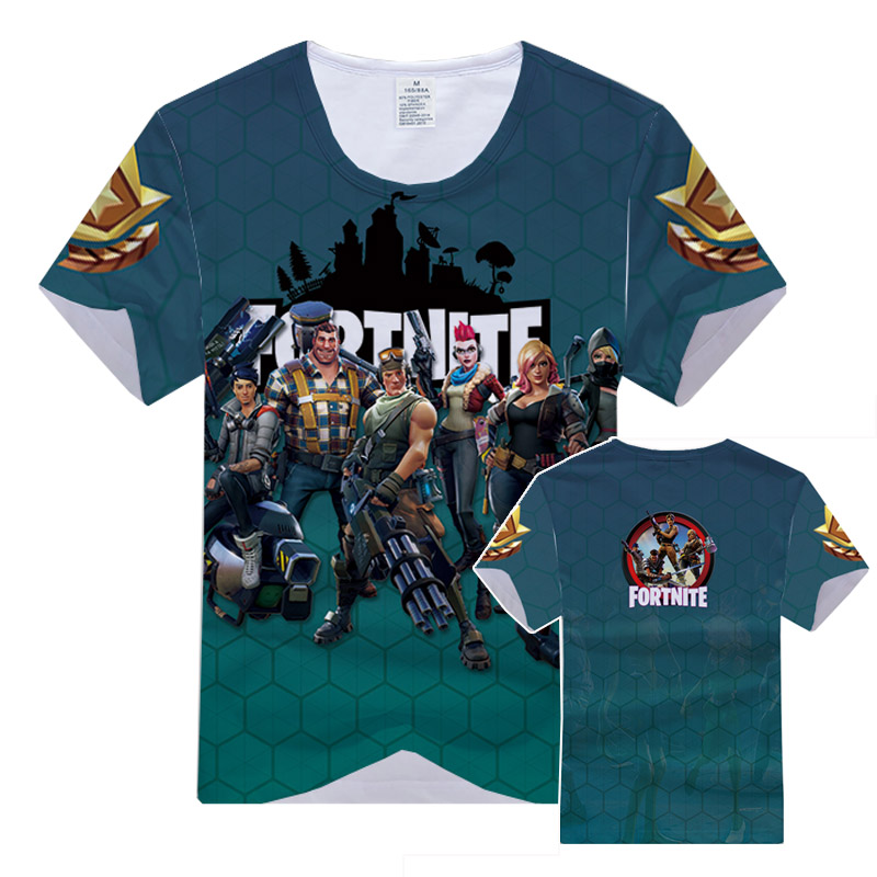 Coshome Fortnite футболки Для мужчин Для женщин 3D Футболка с принтом короткий рукав Футболки-топы Повседневная футболка летние C