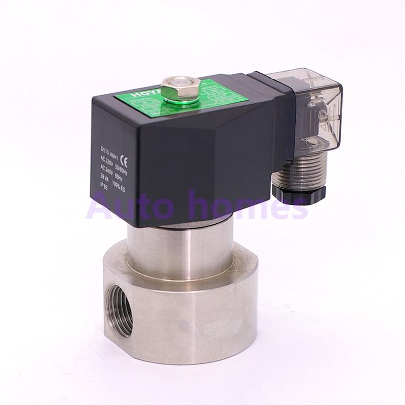 G3/8 1/2 inch high pressure solenoid valve 12V DC Orifice 10mm N.C stainless steel water wash pump valve 0.5 100ba SPG 10-in Valve from Home Improvement    1