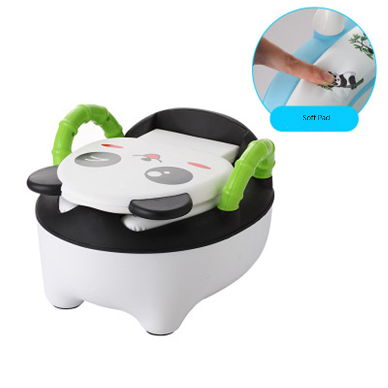 Baby Fashionable & Lovely Potty Toilet Bowl Cartoon Training Pan Toilet Seat Children Bedpan Urinal Comfortable Backrest Pot hot sale lovely baby children toilet baby drawer type bedpan children urinal potty training baby toilet soft stable stool seat
