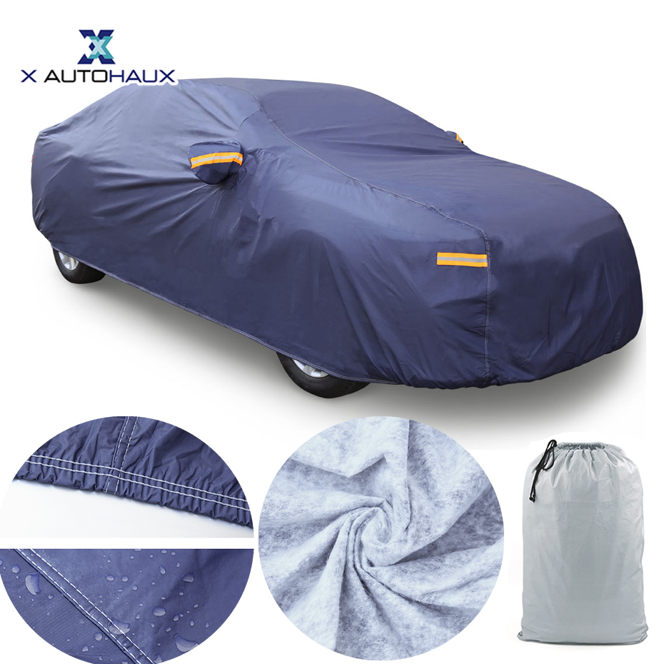 X AUTOHAUX PEVE Car Cover Waterproof Breathable Scratch Rain Snow Sun UV Resistant Universal Covers For Car DHL Free Shipping