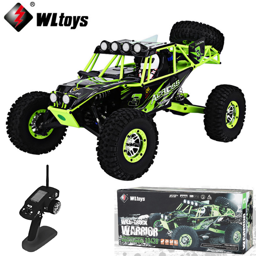 WLtoys <font><b>10428</b></font> 1/10 2.4G 4WD RC Monster Crawler RC Car with LED Light RC rock-climber Remote Control Electric Wild Track Warrior image