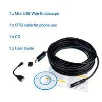 15 Mt Kabel 10mm Mini Digital USB Endoskop Inspektion 480 P Kamera 4 LED Endoskop für Android Windows IP67 wasserdichte Nehmen Vedio
