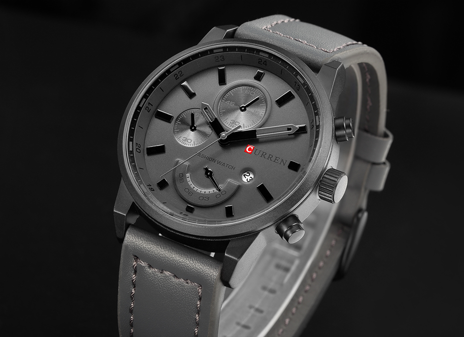 CURREN Men's Casual Sport Quartz Watch Mens Watches Top Brand Luxury Quartz-Watch Leather Military Watch Wrist Male Clock Drop HTB1SQk9eXGWBuNjy0Fbq6z4sXXak