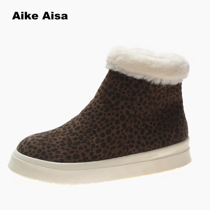 Cálida Leopardo Tobillo Clásicas Zapatillas Mujer Nieve Khaki b03 Altas Brown b02 b03 b02 B02 Botas Plataforma 2019 Beige B2 Para De Invierno Brown Zapatos Casuales Black xqO86
