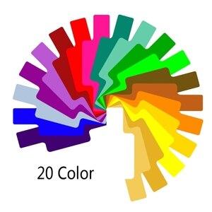 Image 4 - 20 cartões de filtro de gel de cor fotográfica conjunto flash speedlite para canon 10166