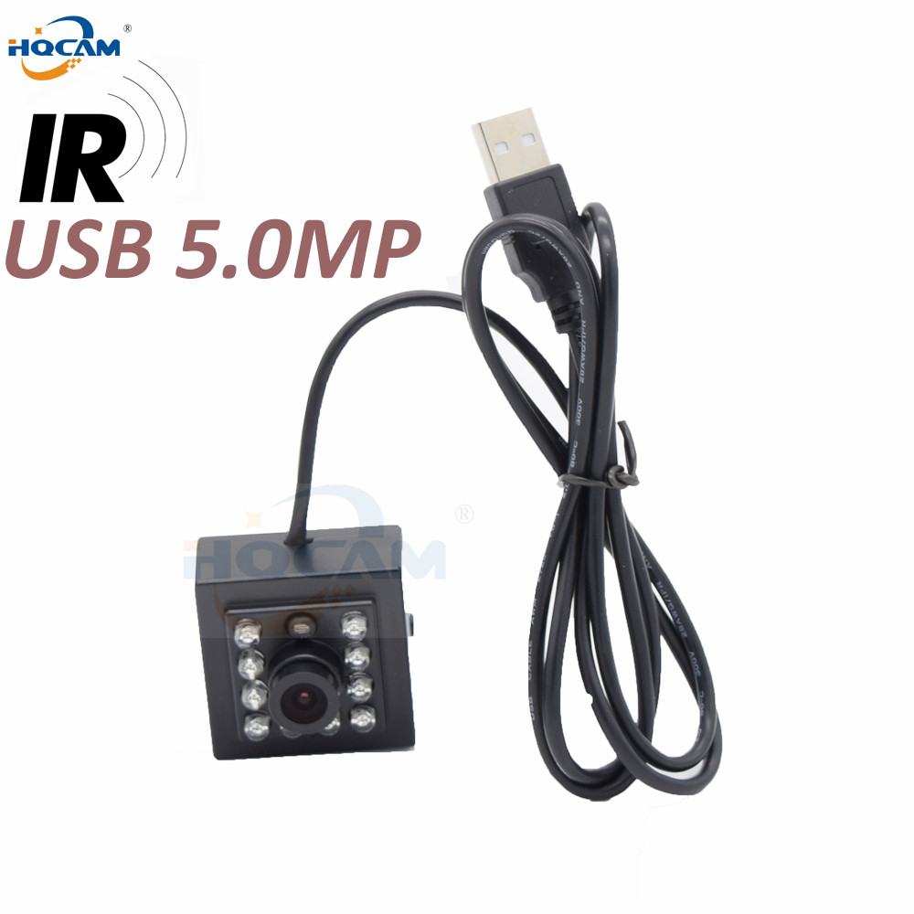HQCAM 5 0megapixel MI5100 Mini USB Camera Infrared night vision Automatic vending USB Industrial camera Linux