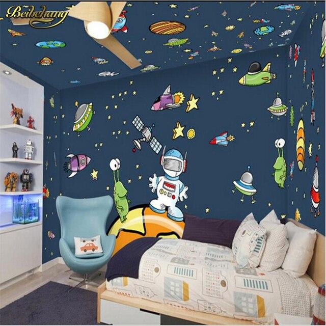 Beibehang pared de la habitaci n de los ni os pintura dibujos animados star universe galaxy - Pintura para habitacion de ninos ...