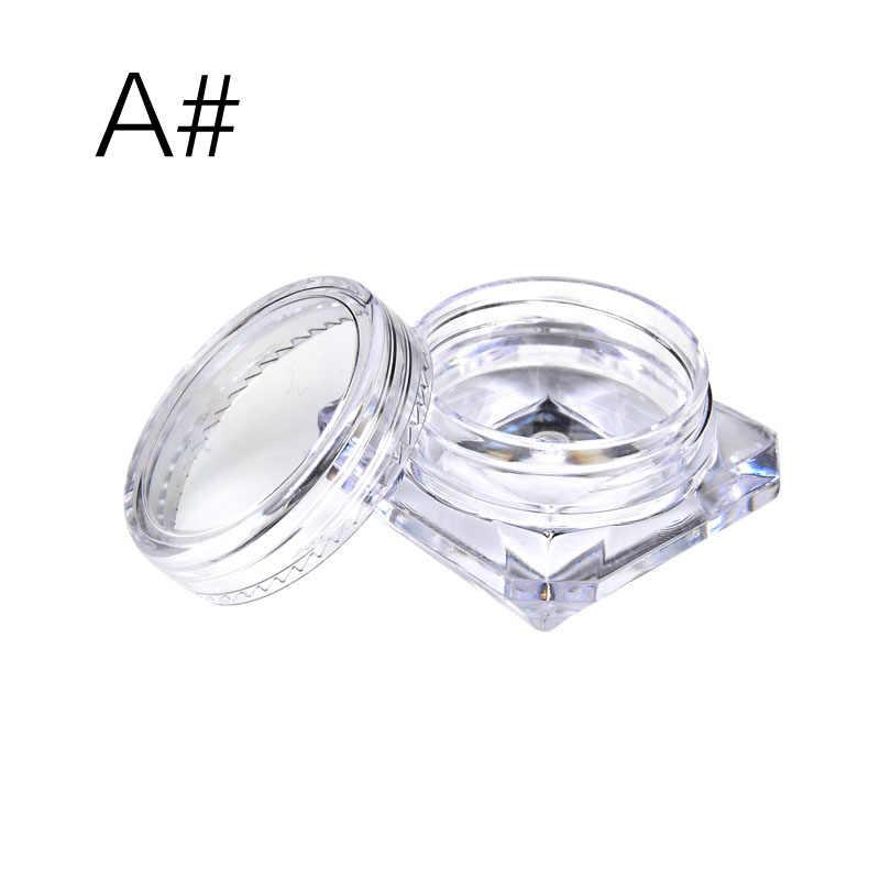 10Pcs Trasparente Piccolo Bottiglia di 2G/2.5G Cosmetic Empty Jar Pot Ombretto Balsamo per Le Labbra Viso Campione di Crema contenitore