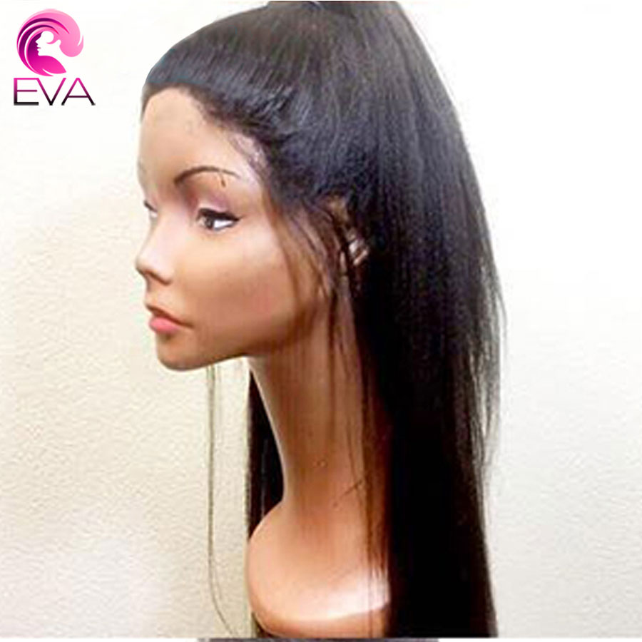 Eva Hair 150% 4.5*4.5 Silk Base Lace Front Human Hair Wigs Pre Plucked With Baby Hair Yaki Straight Wig Brazilian Remy Hair Wigs