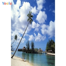 Yeele Seaside Gazebo Beach Coconut Tree Tropical Photography Backgrounds Personalized Photographic Backdrops For Photo Studio