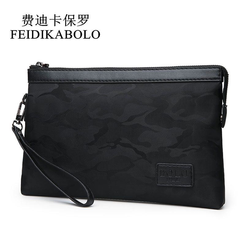 FEIDIKABOLO Waterproof Nylon Men Wallets Handy Bags Mens Clutch Black Camouflage wallet Male Purse Cheaper Dollar Price Carteras 2016 luxury male 100% original leather purse men s clutch wallets handy bags business carteras mujer wallets men dollar price