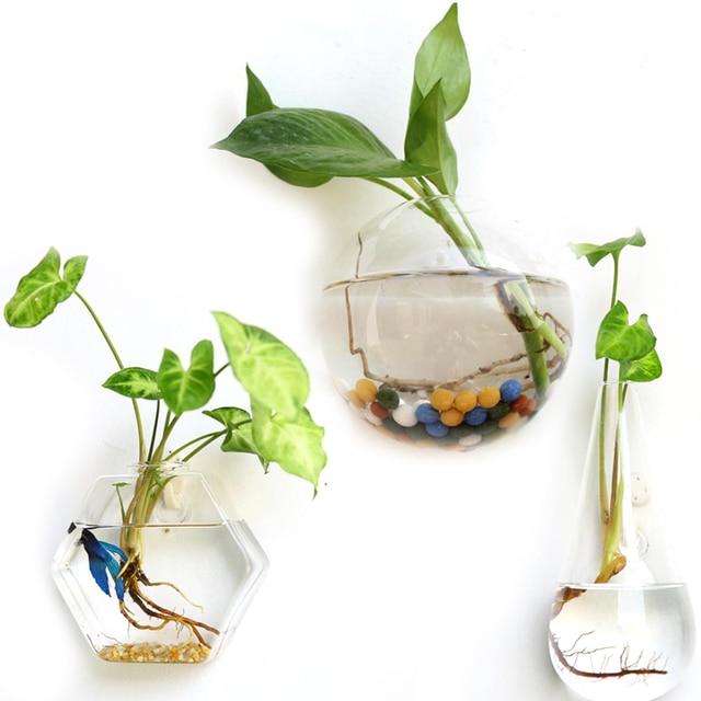 Творческий Висячие Плантатор Цветка Ваза Террариум Контейнер Сад Декор Стены