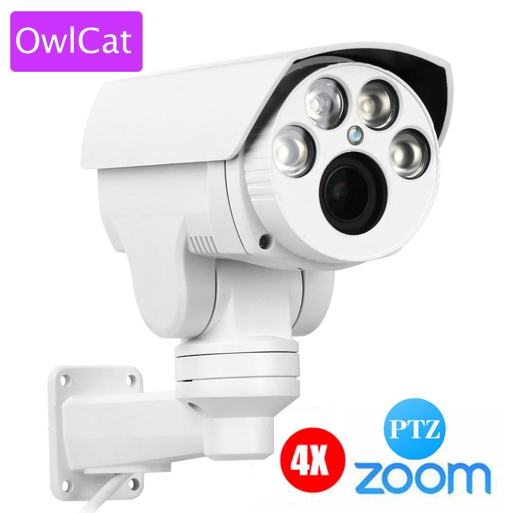 Owlcat HD 1080 P 4x 10x зум ip-камера пуля наружная водостойкая Pan Tilt 2,8-12 мм варифокальный 2MP PTZ IR Onvif
