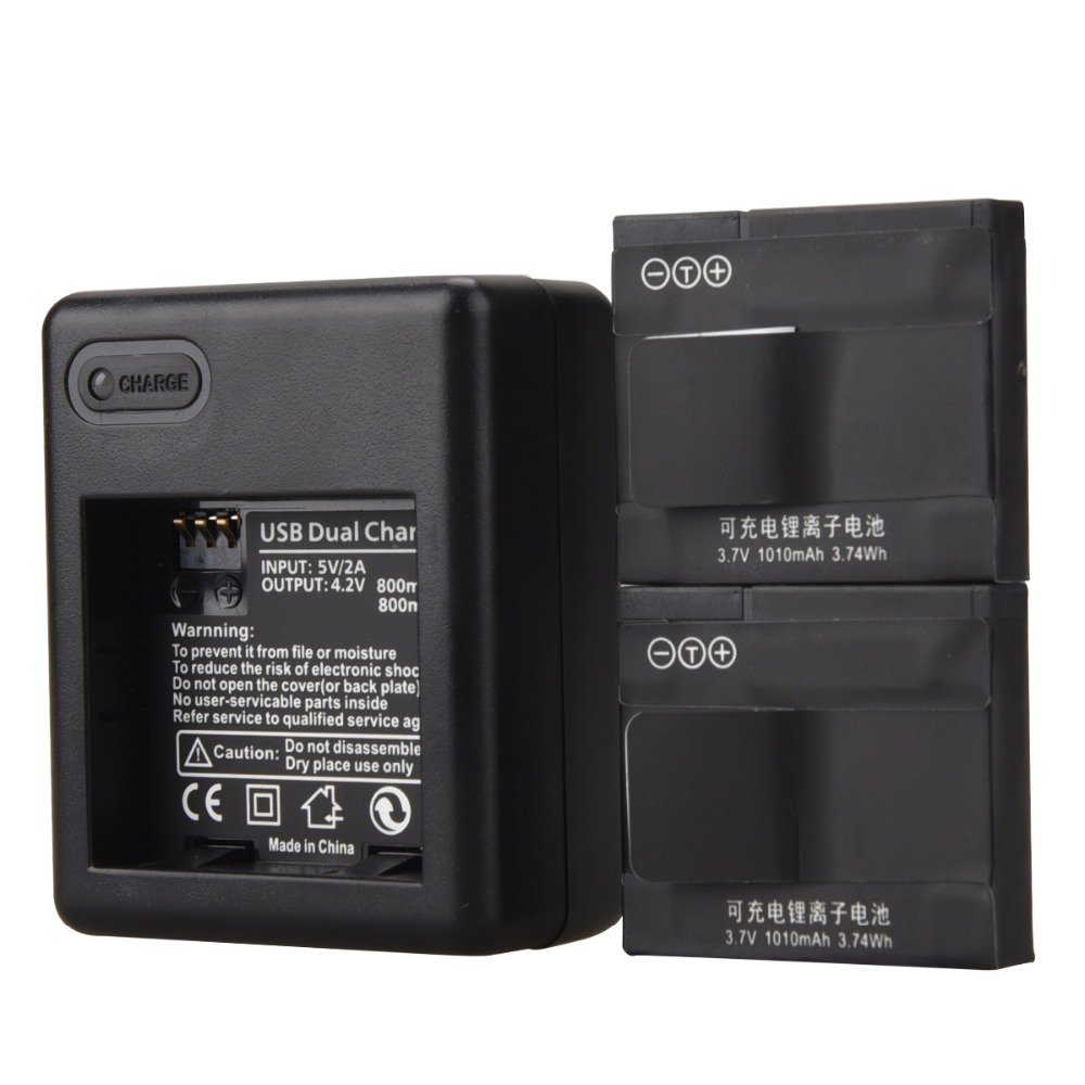 Новинка 1010 мАч AZ13-1 батарея с USB зарядным устройством для Xiaomi Yi Экшн-камера запасная батарея перезаряжаемая резервная батарея