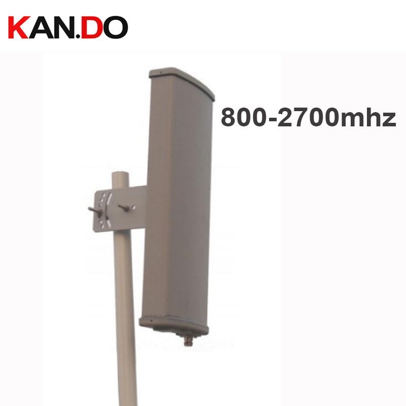 2G 3G 4G booster antenne 12dbi polarisation verticale 65 degrés 800-2700 Mhz panneau antenne Base station utiliser 2G 3G 4G antenne