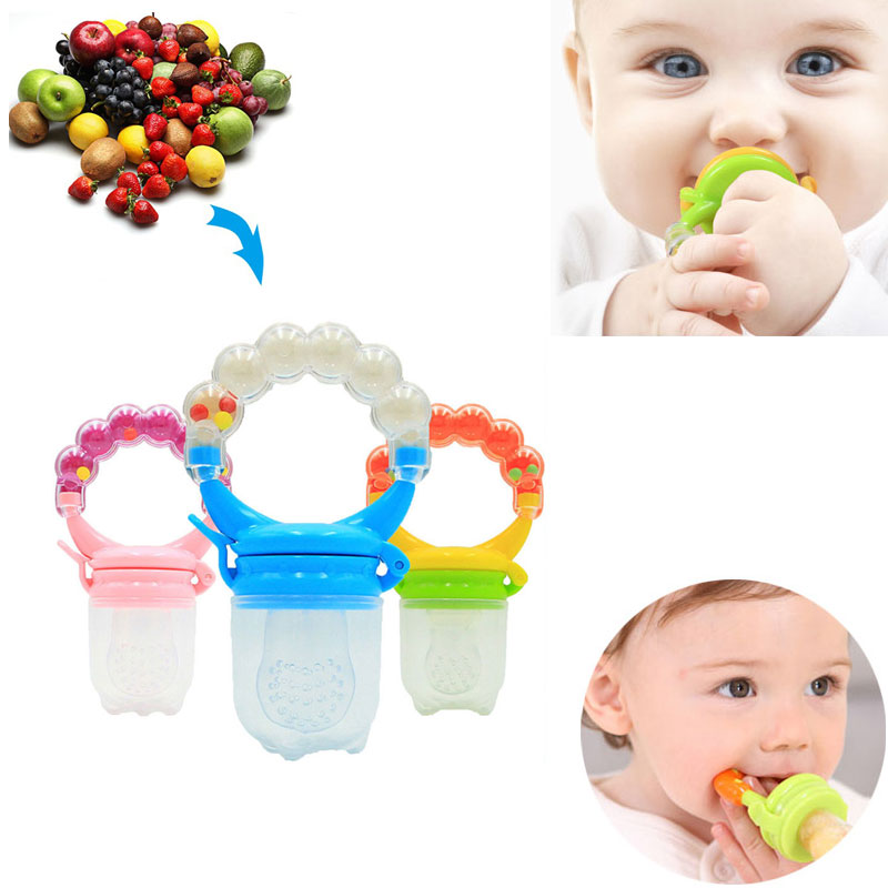 New Baby Pacifiers Food Nibbler  Nibler Nipple Pacifiers For Baby Fruit Feeder Nipples Feeding Safe Nipple Pacifier