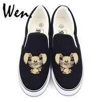 Wen Custom Design Tush Rabbit Zombie Bunny 2 Colors White Black Slip On Shoes Men Women