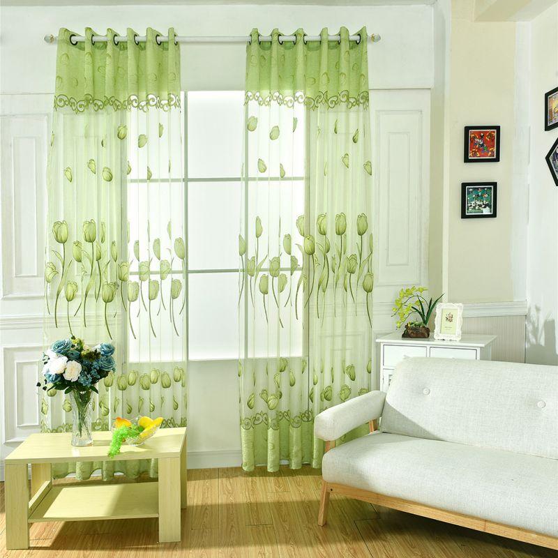 cortinas de la puerta habitacin inicio uso de flores balcn flor del tulipn panel visillos cortinas cenefa bufanda