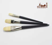 3pcs Crafts brush especially Big pig bristle round peak oil painting brush painting brush art supplies wooden cleaning brush