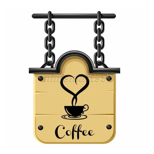 Hot DIY Wall Art Decal Decoration Fashion Heart Coffee Cup Wall ...