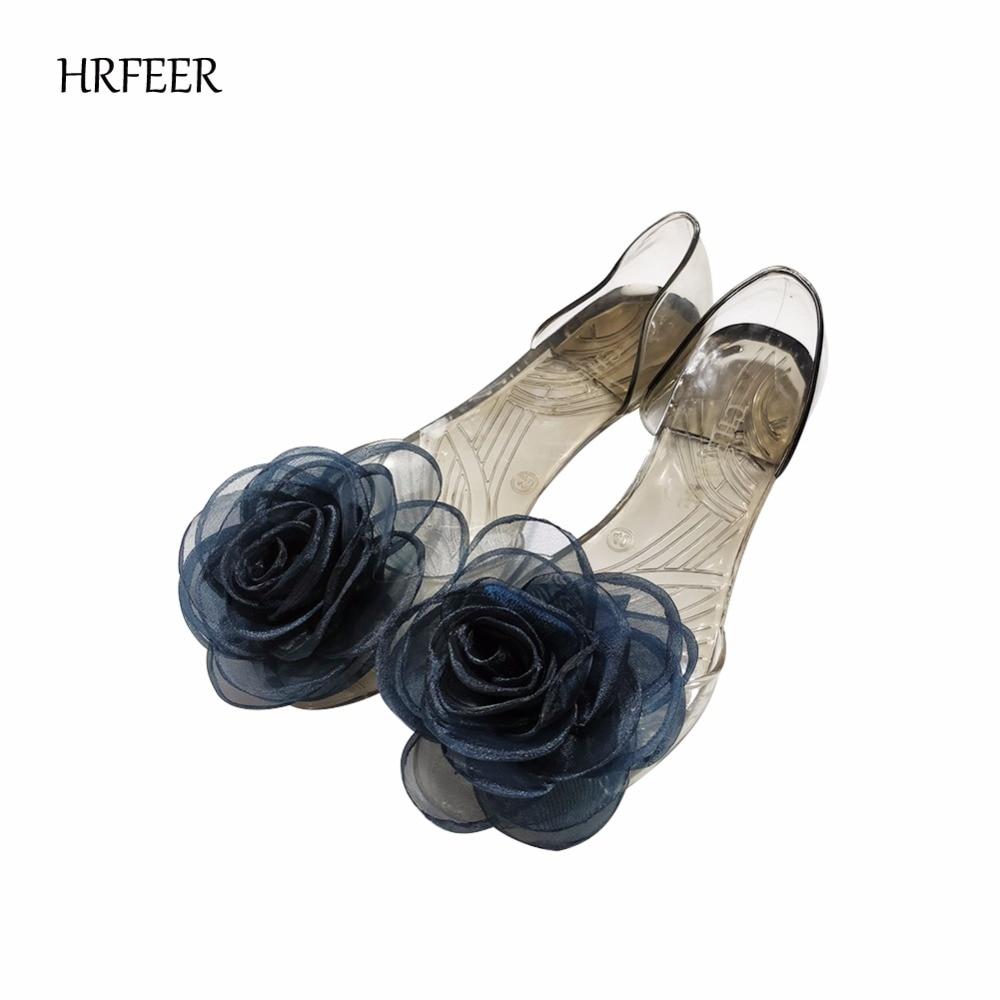 HRFEER Sandales plates pour femmes Casual Soft Jelly Chaussures Glaze - Chaussures pour femmes