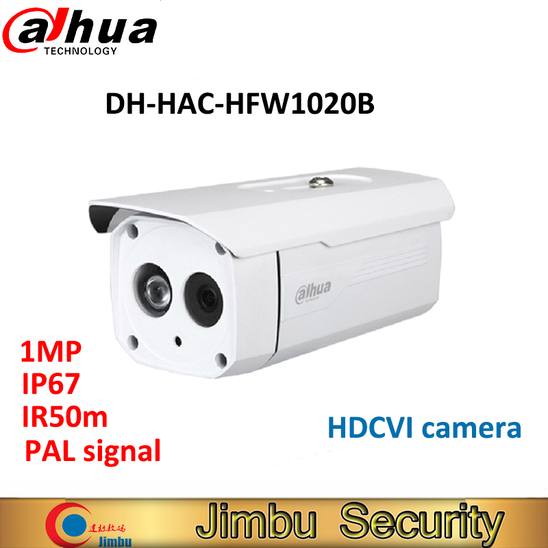 Dahua 1MP 720P DH-HAC-HFW1020B HDCVI camera Waterproof IP67 IR 50M Bullet Camera Security CCTV Camera HFW1020B dahua outdoor indoor hdcvi camera dh hac hdw1100e 1mp hd network ir security cctv dome camera ir distance 40m hac hdw1100e ip67