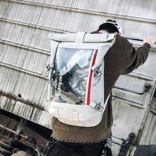 Transparent Backpack Men's Travel Backpacks Large Capacity C