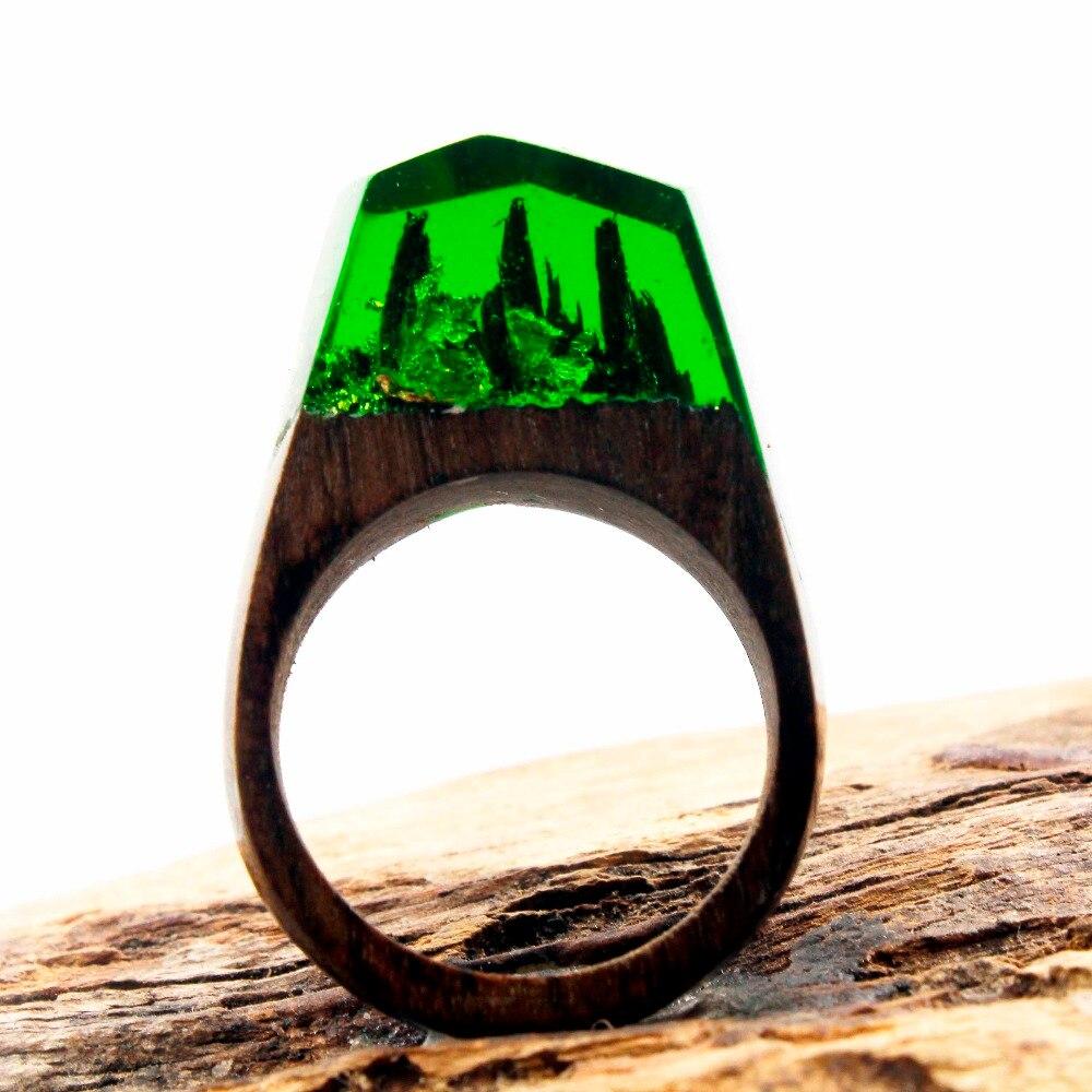 Danze New Design Fashion Natural Landscape Wood Ring Inlay