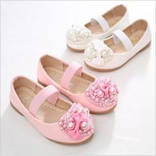 цена на qloblo Children Princess Sandals Kids Girls Wedding Shoes High Heels Dress Shoes Bowtie Party Shoes Girls Pink White Baby shoes