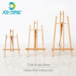 XINDI الصنوبر الخشب الحامل 3 أحجام منضدية رسم الفنان خشبية أضعاف الدائمة الحامل اللوحة سبورة السبورة الحامل WE05