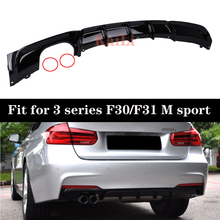 Rear Bumpers Diffuser For BMW F30 F31 M Sport Models 2013+ 316i 318i 320i 328i 330i 335i 340i Gloss Black ABS Bumper Diffusers white yellow turning signal concept m4 iconic style led angel eye for bmw 3 series f30 320i 328i 335i 330i 340i 318i 330e 13 17