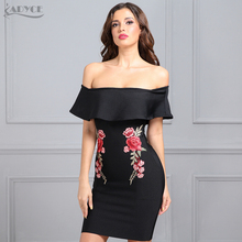 New Women Summer Dress Bandage Sleeve Butterfly Dresses Slash Neck Floral Embroidery Mini Chinese Style Dresses