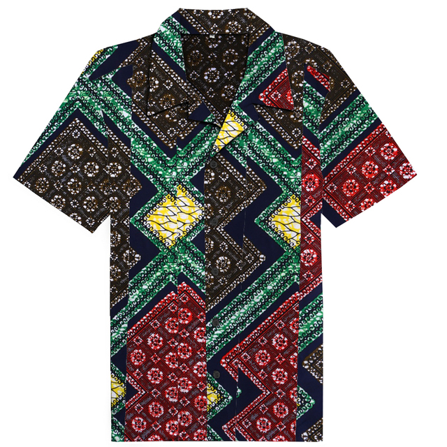4a5c4f98c1f0 New style men's african shirts dashiki clothes ankara blusas for men short  sleeve tops wax print africa clothing
