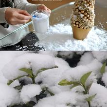 500G/bag Christmas Decor Artificial Snow Powder Plastic Fake Simulation White Snow Powder Party Decoration~