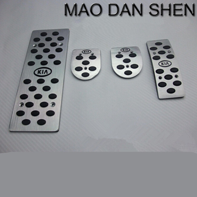 2015 Hot high quality aluminum skid accelerator pedals MT manual transmission for KIA K2 free shipping