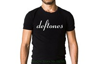 O Neck Fashion Casual High Quality Print T Shirt Deftones Classy Band Title Logo Black T