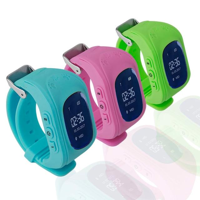 Q50 OLED Display Children Kids Baby Smart Watch GPS Tracker Locator Anti-Lost Wa