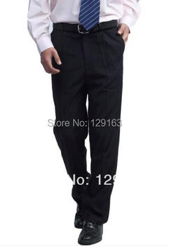 Spring Autumn Men Business Pants Male Suit Pants Loose Straight Formal Trousers Black Dark Blue B 441