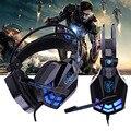Bajo Glow Gaming Headset Estéreo Rodeado Juegos Wired Diadema Cancelación de Ruido Auriculares con Control de Volumen del Mic para PC Gamer