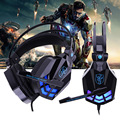 Bass Glow Gaming Headset Stereo Surrounded Wired Games Headband Headphone Noise Cancelling with Mic Volume Control for PC Gamer