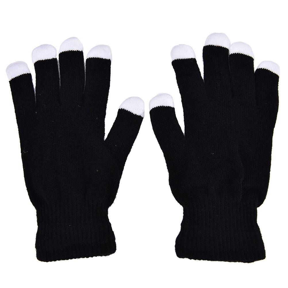 Black light gloves - 1pair Flashing Gloves Glow Black 7 Mode Led Rave Light Finger Lighting Mitt Toy Finger Led